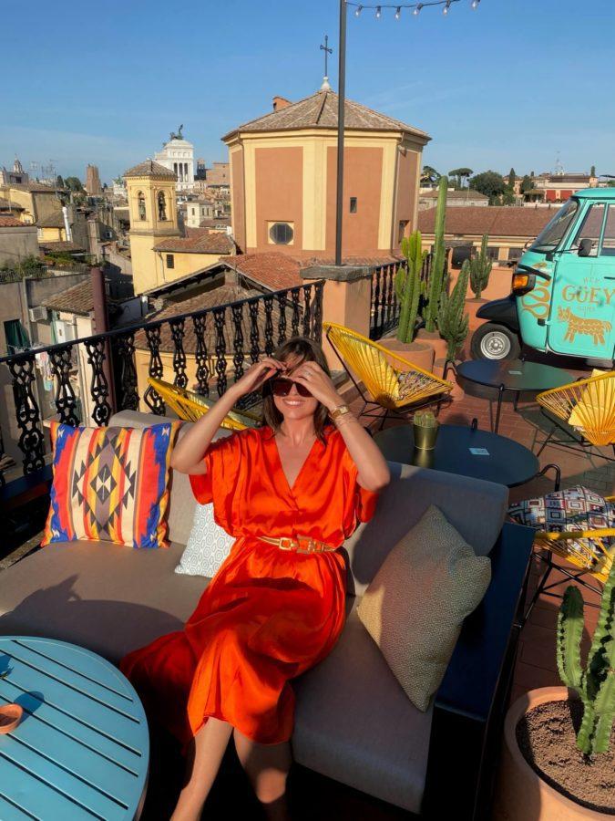 tenue robe orange