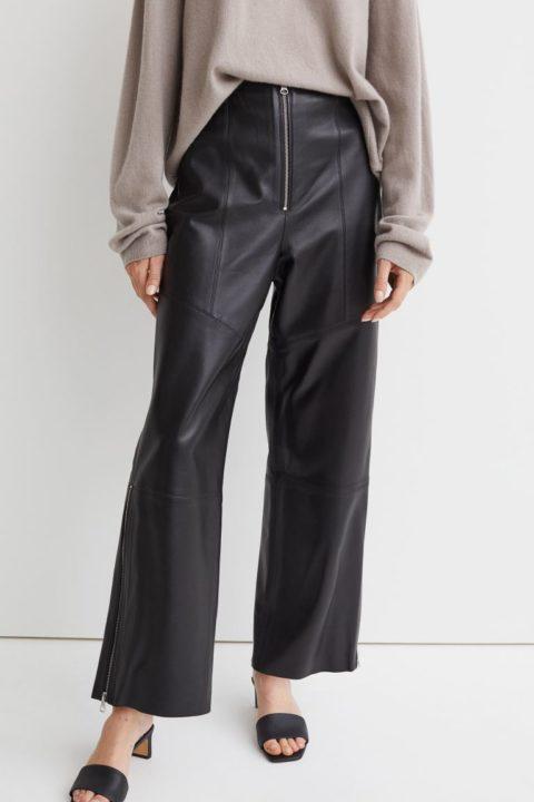 pantalon cuir H&M